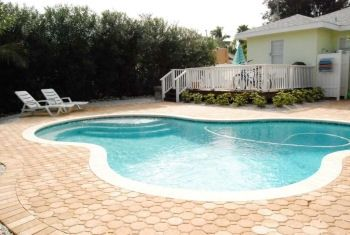 Private heated pool with lots of sunning area!