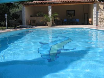 Photo for character house with indoor pool, medieval village 15 km from AVIGNON