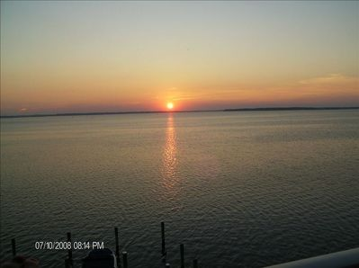 Beautiful sunset's from our large direct bayfront balcony. PRICELESS.
