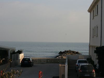 Photo for lovely studio apartment facing the sea, 1st and last floor of a small residence.