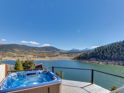 Photo for Spacious lakefront getaway w/ sweeping views, private hot tub, and shared pool!