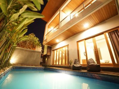 Photo for A Stylish Tropical Villa in Seminyak 2 BR w pool