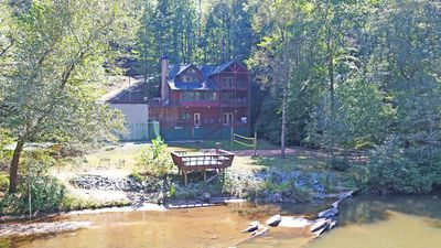 Situated right on the Coosawattee river!