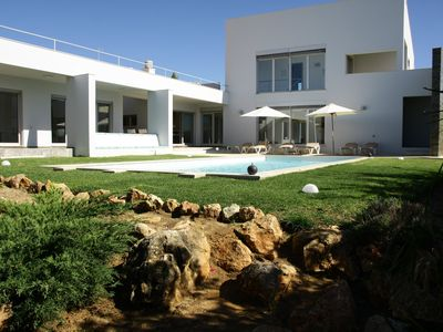 Photo for Villa of charm with private pool overlooking the sea and on the beach