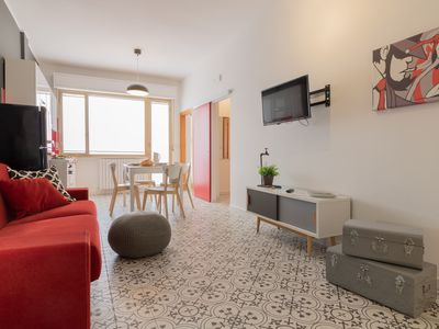 Photo for bright apartment a stone's throw from the sea