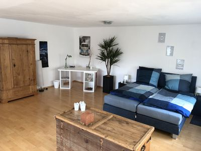 Photo for Quiet, modern apartment with large terrace in a quiet residential area