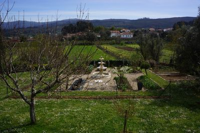 View of Yavanna's main garden from the swimming pool