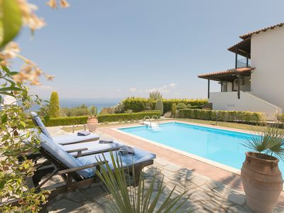 Photo for #FLH - Olive Pool Villa in Polychrono