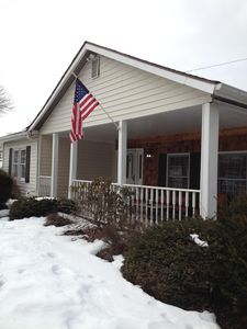 Front of the house in winter