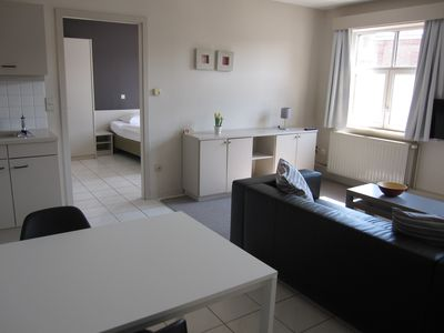 Photo for Superior Apartment with private parking in the historical heart of Bruges
