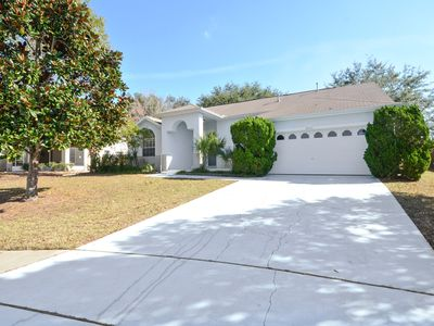 Photo for Private 4 Bedroom 3 Bathroom Pool Home on a cul-de-sac minutes to Disney 6042