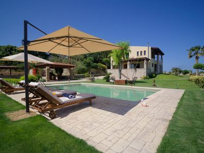 Photo for Four-Bedroom Villa with a Pool, 400m from the Beach!