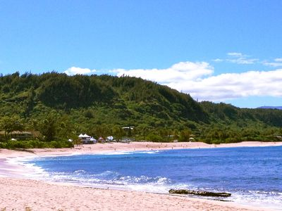 Sunset Beach- The Lanai is directly located behind the the surf contest tents.