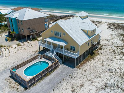 Photo for Gulf front house w/ private pool, beautiful views, & free WiFi!