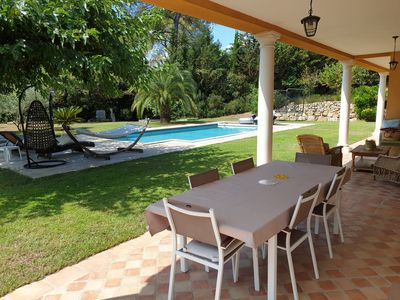 Photo for Villa with swimming pool not overlooked in private secure domain in Mougins