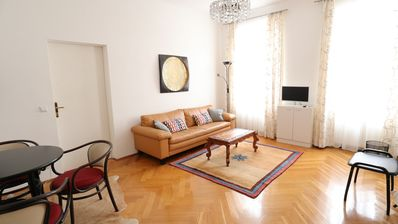 Photo for Spacious Art Nouveau apartment with subway nearby in Schönbrunn area
