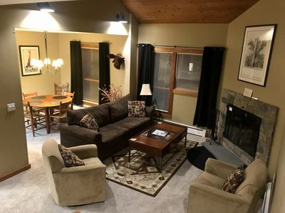 Photo for Shuttle to lifts & Ski home w/ Pool, Jacuzzi & Sauna in Clubhouse