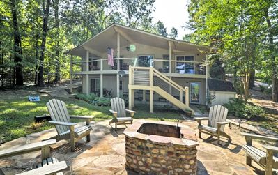 Photo for Greers Ferry Lakefront Home w/ Deck, Fire Pit & MORE!