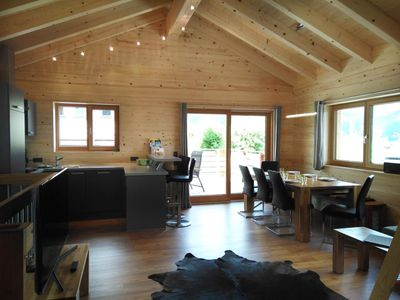 "Photo for Holiday house, 3 baths / WC, 3 bedrooms - ""Chalet 1"" - Walser Berg chalets"