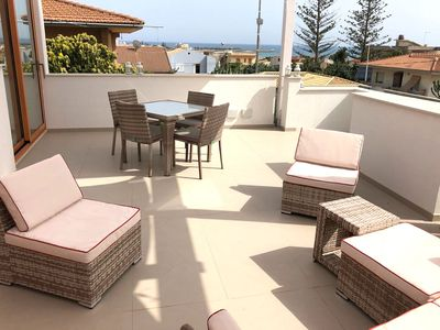 Photo for Holiday Home Plumes Home: sea view terrace