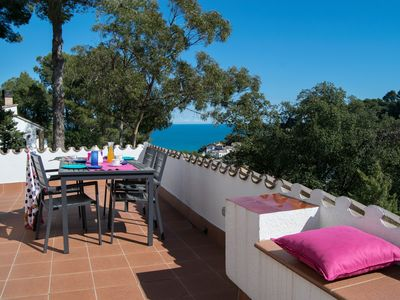 Photo for Individual villa with garden and splendid sea view  only 1 Km. from the beach.