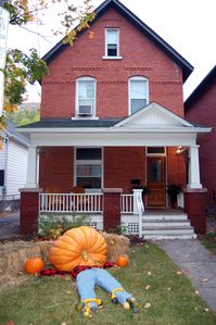 Nothing like a 405 pound pumpkin to say 'Welcome Home' at Halloween