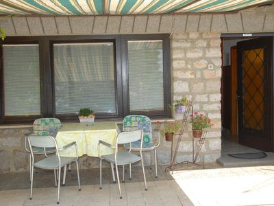 Photo for One bedroom apartment with terrace and sea view Senj