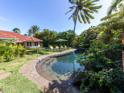 Photo for Loke Lani 'Beautiful Rose' Hawaiian luxury home with pool, hot tub and AC Close to the Beach!