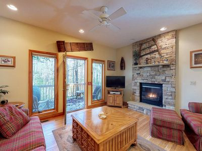 Photo for NEW LISTING! Cozy townhome w/hot tub, foosball & fireplace-walk to Wisp Resort