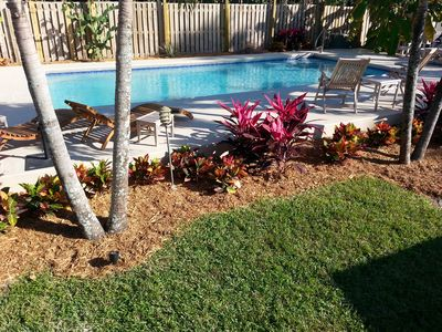 Photo for Island Vacation home w/ Private heated Pool, 3BR/3BA