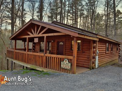 Photo for Smoky Mountain Cabin secluded offers two bedrooms for price of one