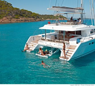 Charter this luxury sailing Catamaran that is 56ft.  Unique, luxury, floating!