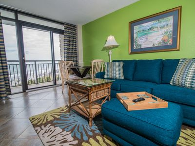 Photo for Sierra's Oceanfront. Indoor Pool and Game Room. Free Wi-Fi. Great Family Fun!