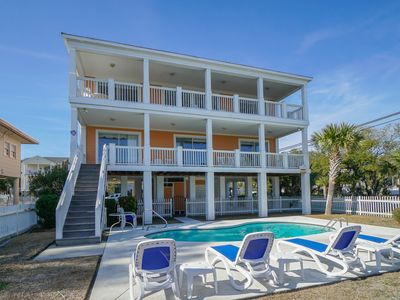 Photo for Nightly Stays Aug-Sept*ALL-INCLUSIVE RATES! Private Pool, Short Walk to Beach