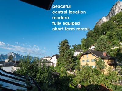 Photo for Quiet Penthouse with balcony in the old town quarter Nonntal  Salzburg Austria.