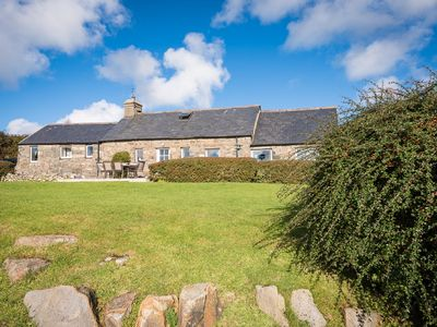 Photo for 5* Luxury Welsh stone Long Cottage with magnificent panoramic views
