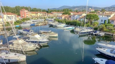 Photo for Port Grimaud - Duplex mezzanine with beautiful view on the canals