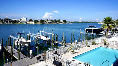 Photo for Clearwater Beach Townhome on water walk to beach shops/Restaurants