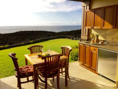 Photo for HALI'I KAI RESORT TRUE OCEAN FRONT BREATHTAKING GROUND FLOOR LUXURY VILLA SPECIA