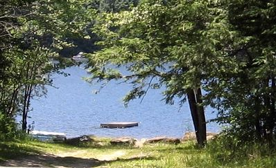 The Lake-we provide a canoe, paddles and lifevests down by the water!