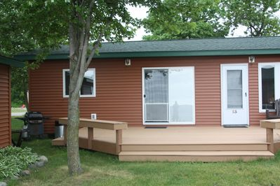 Cabin #14 is part of a duplex with new shared deck.