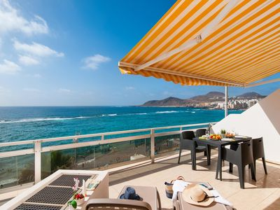 Photo for BEACH FRONT STUDIO WITH STUNNING VIEWS IN LAS CANTERAS GRAN CANARIA