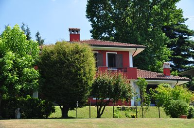 west face of the villa