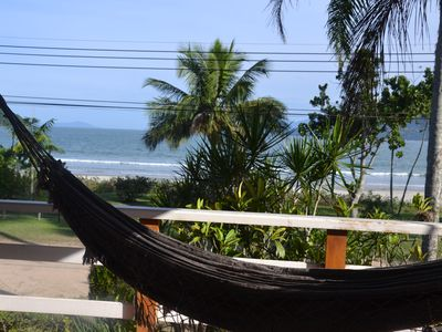 Photo for Sobrado foot in the sand, overlooking 180 the beach, balcony, 6 bedrooms and 3 bathrooms