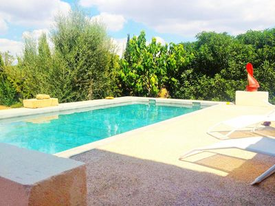 Photo for SON MORA- Villa in Campos- MALLORCA- 6 pax. Private pool. BBQ-. Air conditioner. Unobstructed views -90597- - Free Wifi