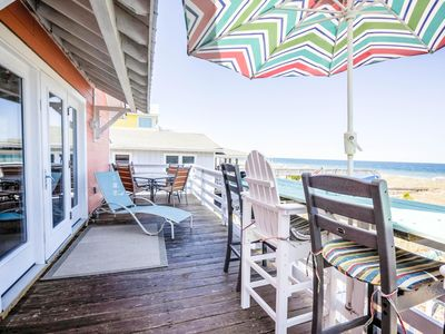 Photo for Dreamers Den -Dog Friendly Oceanfront home with private walkway and large deck