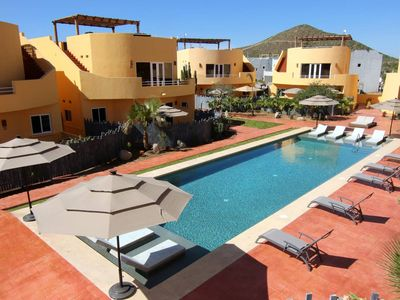 Photo for Second Floor Unit, Large Pool, Steps to Beach, Mountain View