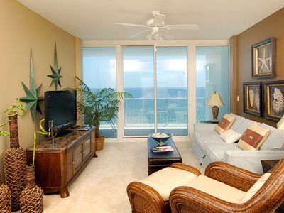 Photo for Gulf-Front Condo with Gorgeous Balcony Views, On-site Pools/Hot Tub, Close to shopping & Dining!