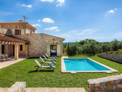 """Photo for Stunning Holiday Home """"Can Bosco"""" with Mountain View, Garden, Pool, Terraces & Wi-Fi; Parking Available"""