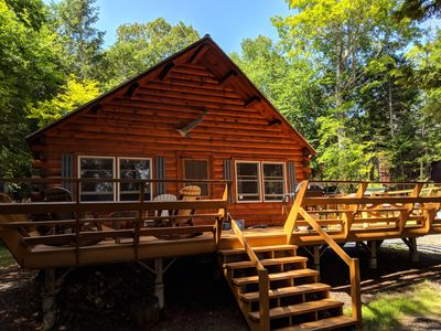 Cool Beautiful Log Cabin On Prime Waterfront Beaver Cove Download Free Architecture Designs Scobabritishbridgeorg